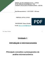 Unidade I - Conceitos e Divisão Dos Tópicos Da Microeconomia