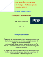 Geologia Estrutural - Esforço+Deformaçao