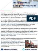 Boletín informativo Diputado Carlos Valero