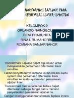 Aplikasi Transformasi Laplace Pada Persamaan Diferensial Linier Simultan