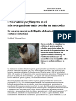 clostridium perfingens es el mas habitual en animales de compañia