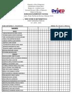 List of Grade Six Pupils