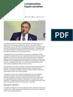 014-08 _Alvaro Dias pede a empresários lucidez e que não façam escolhas equivocadas - Notícias - UOL Eleições 2018