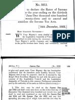 Tax Act 1922