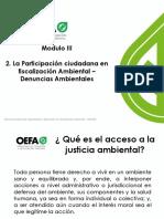 MODULO III - 2 Participación Ciudadana y Denuncias Ambientales