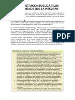 ADMINISTRACION PUBLICA Y LOS ORGANISMOS QUE LA INTEGRAN.docx