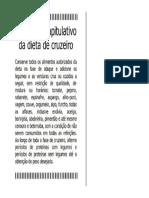 Resumo Capitulativo Da Dieta de Cruzeiro Dukan