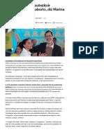 014-08 _Justiça não pode substituir Congresso sobre aborto, diz Marina Silva - Notícias - UOL Eleições 2018