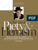 "Ami 379 Cover Feature Skulener Rebbe zt""l"