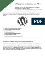 Comment Installer Wordpress en Local Sur Son Pc 46802 Odwemi