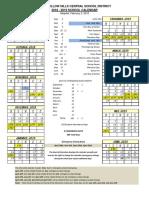 2018-19 District Calendar Adopted(1)