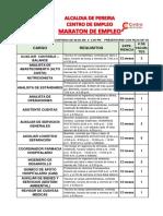 Vacantes-maraton de Empleo Julio 04 de 2018