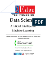 Data Science Course Content _ Artificial Intelligence _ Machine Learning