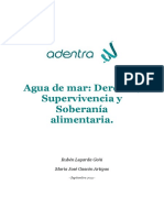 Agua de Mar Derecho, Supervivencia y Soberanía Alimentaria.