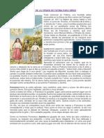Historia de La Virgen de Fátima Para Niños