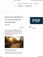 Rules and Regulations for LiU International Scholarships - Linköping University