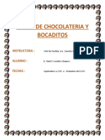 Curso de Chocolateria y Bocaditos