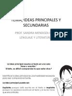 Tema, Ideas Principales y Secundarias
