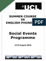 SCEP Social Events Brochure