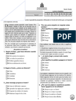 Prueba Diagnóstica 6º Español (2011)