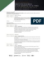 Programa Congreso Internacional  Obreros Incansables