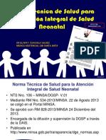 Norma Técnica Neonatal MINSA PERU