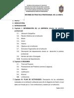 estructura de informe de pasantias