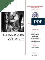 Monografía Sobre El Suicidio en Los Adolescentes