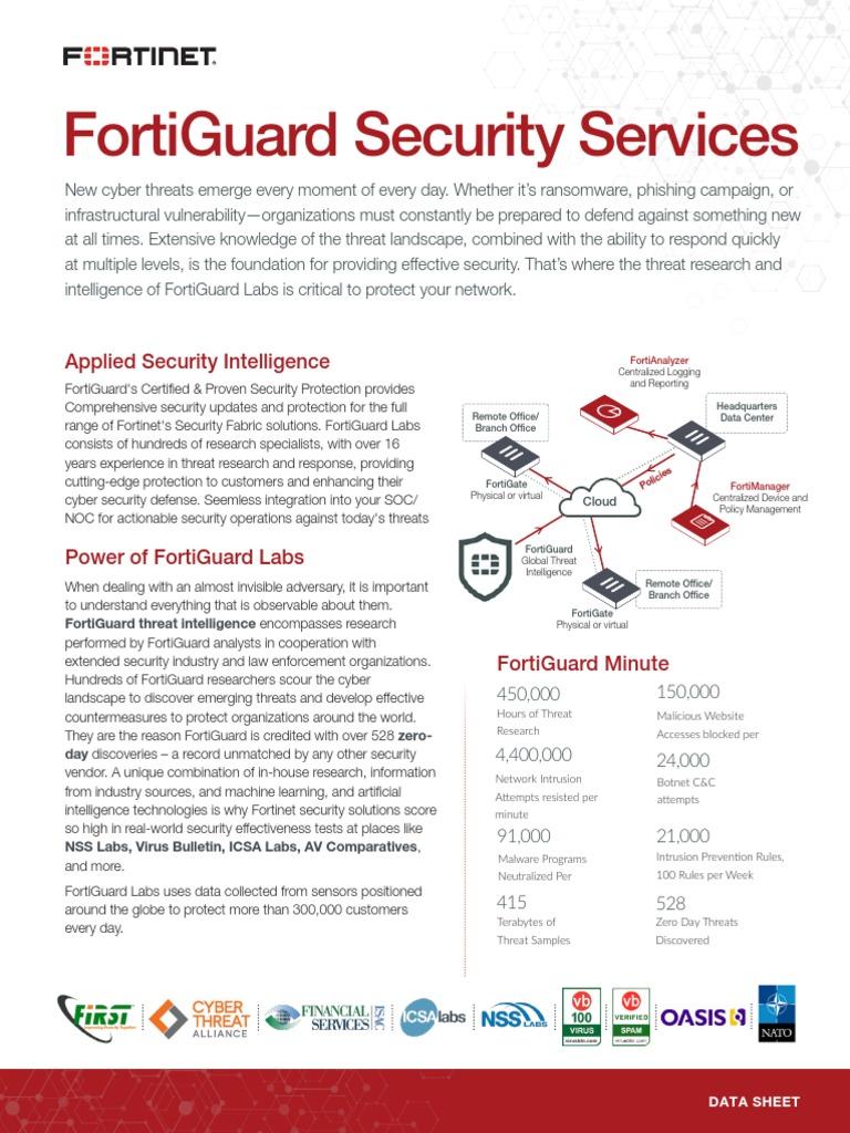 FortiGuard Security Services | Computer Security | Seguridad