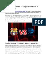 Prediksi Barcelona vs Deportivo Alavés 19 Agustus 2018