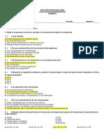 Evaluación Diagnóstica - Química - CLAVE