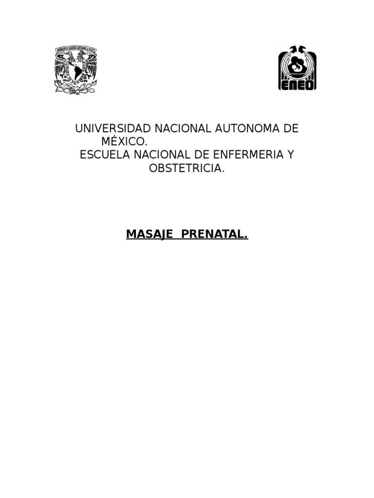 Masaje Prenatal Est Seminario