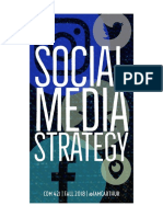 Social Media Strategy, Fall 2018 - Syllabus
