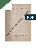 Julián Carrillo Dos Leyes de Física Musical