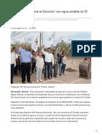 03-08-2018-Cumple DIF Sonora Te Escucho Con Agua Potable en El Triunfito - La tribuna