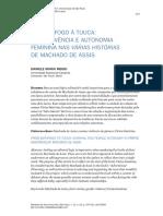 Sobrevevência e autonomia femenina nas Várias Historias de Machado de Assis