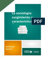 1. La sociología - surgimiento y características.pdf