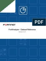 Fortianalyzer v5.4.5 Dataset Reference