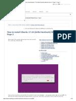 How to Install Ubuntu 17.10 (Artful Aardvark) Minimal Server - Page 2 - Page 2