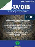 Jurnal At-Ta'dib. volume 1 nomor 2, Agustus-November 2009