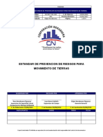 SGI-EST-V01-020 - Estandar de Prevencion de Riesgos Para Movimiento de Tierras