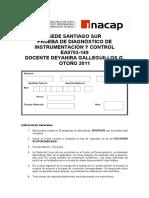Corrección Prueba de Diagnostico Instrumentacion y Control EA0703-149.