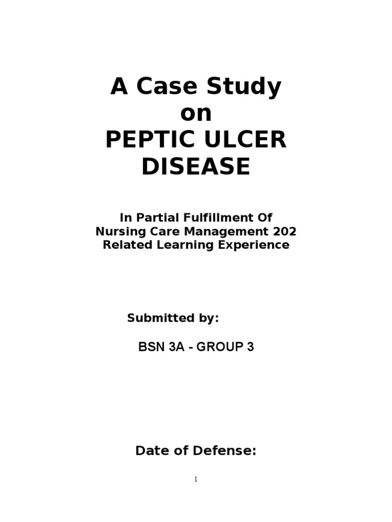 evolve peptic ulcer disease case study answers