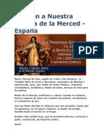 Oración a Nuestra Señora de La Merced