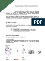 Cuantificacion y Evaluacion de Las Operaciones de Separacion