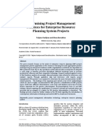 Project Management Practices for ERP Projects