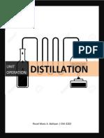 Distillation Written Report