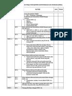 MKE Check List