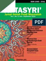 Jurnal At-Tasyri' volume 1 nomor 2