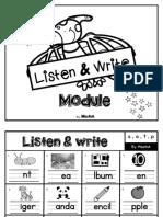 Listen & Write Module